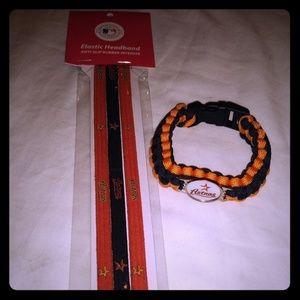 Houston Astros Headband & Bracelet Pack
